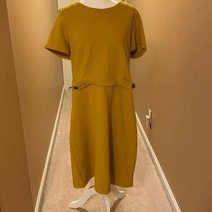 Boden Dresses - BODEN MUSTARD YELLOW SHEATH DRESS SIZE 18L